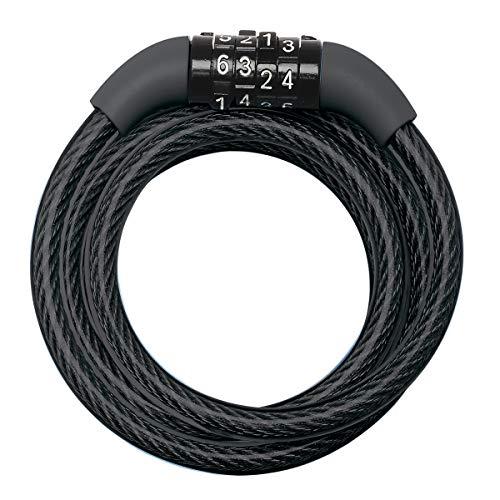 Master Lock Fietskabelslot [Combinatie] [1,2 m Oprolkabel] [Buiten] 8143EURDPRO – voor (Elektrische) fietsen…