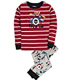 Hatley Little Boys' Pajama Set Applique Rock Band, Grey, 6
