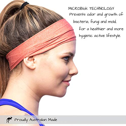 Red Dust Active Sports Headband - Lightweight, Wide & Moisture Wicking - The Ideal Red Running Sweatband - Designed for Women by Red Dust Active (Image #1)
