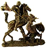Sale - St George Slaying the Dragon Statue - Ships Immediatly !!