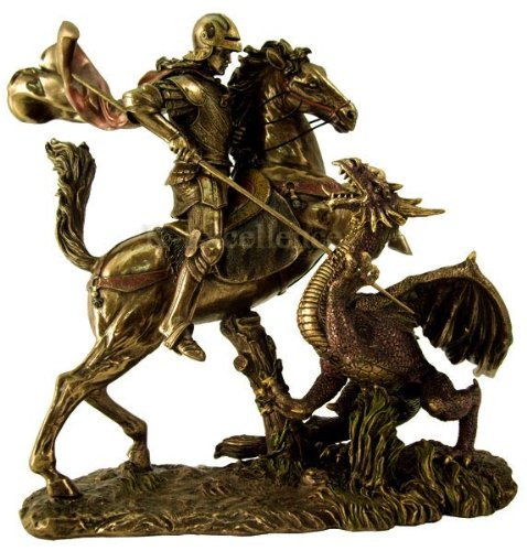 Sale – St George Slaying The Dragon Statue – Ships Immediatly