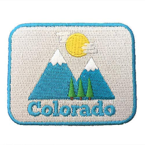 Colorado Patch - Bluebird Day 100% Embroidery Sew or Iron-on Colorado Patch