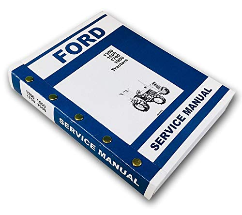 Ford 1300 1500 1700 1900 Tractor Service Repair Shop Manual Technical - Service Shop