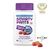 Health & Personal Care : SmartyPants Toddler Formula Daily Gummy Vitamins: Gluten Free, Multivitamin & Omega 3 Fish Oil (DHA/EPA), Methyl B12, Vitamin D3, Vitamin B6, 90 Count (30 Day Supply) - Packaging May Vary
