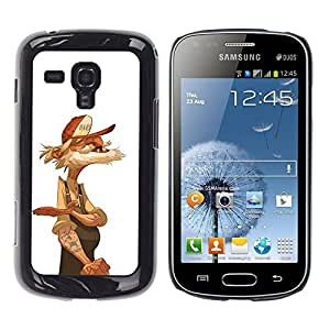TaiTech / Hard Protective Case Cover - Trucker Retired Sailor White - Samsung Galaxy S Duos S7562