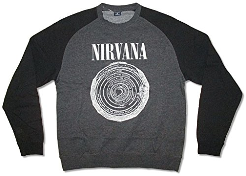 Nirvana Vestibule Heather Grey Crew Neck Sweatshirt Band (L) (Band Crewneck Sweatshirt)