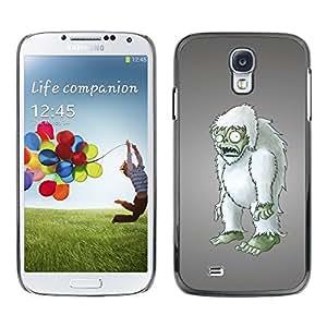 TopCaseStore / la caja del caucho duro de la cubierta de protección de la piel - Zombie Yet Snowman Furry Figurine 3D Art - Samsung Galaxy S4 I9500