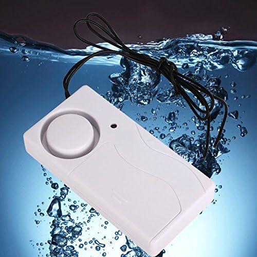 sin bater/ía Detector de tracimazione de agua 120dB sistema de alarma de p/érdida de agua