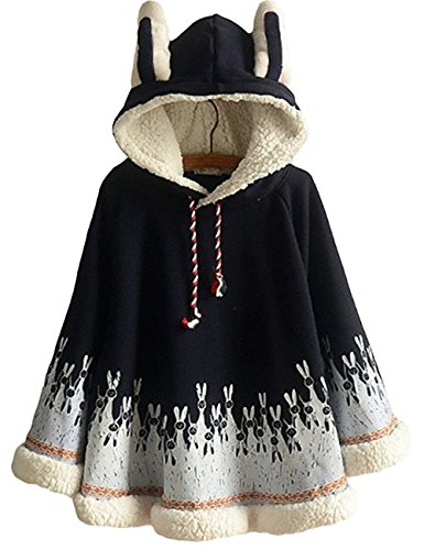 Women Rabbit Print Cape Hood with Bunny ears Harajuku for sale  Delivered anywhere in USA