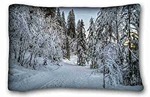 Custom Nature Custom Cotton & Polyester Soft Rectangle Pillow Case Cover 20x30 inches (One Side) suitable for California King-bed
