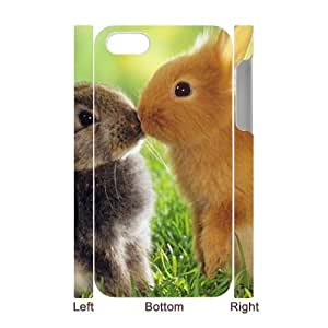 Rabbit 3D-Printed ZLB824408 DIY 3D Phone Case for Iphone 4,4S