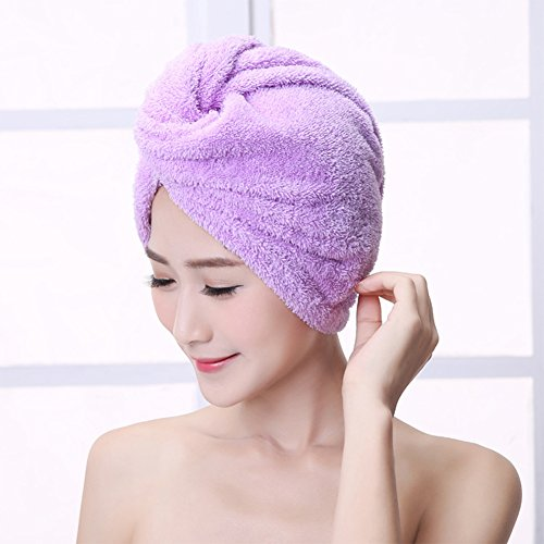 Hair Wrap Towel Microfiber Absorbent Hair Turban Twist Quick Drying Shower Cap for Women(2 Pack) by ZKLKLO (Image #7)