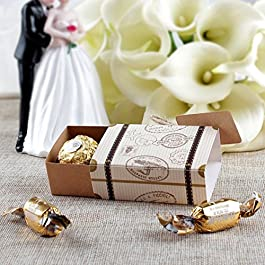 50 Stück Koffer Hochzeit Favor Box, Süßigkeit Kasten