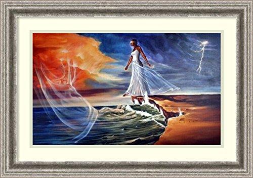 Framed Art Print 'Step Out on Faith: Female (medium)' by WAK-Kevin A. Williams by Amanti Art