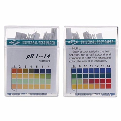 LOCHI 100 Strips 1-14 PH Test Strip Alkaline Acid Indicator Paper Universal Lab Test Paper For Liquid Soil Aquariums Measuring Mayitr NEW ()