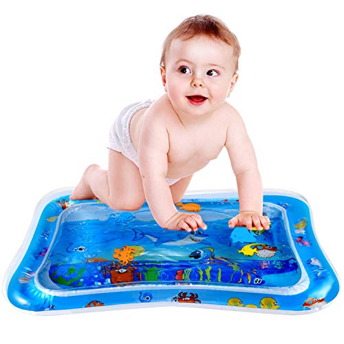-  Water Play Mat, FYLINA Tummy Time Water Mat Inflatable Baby Play Mat for Infants, Leakproof BPA Free Sensory Toy Fun Activity Play Center for Baby's Stimulation Growth (26