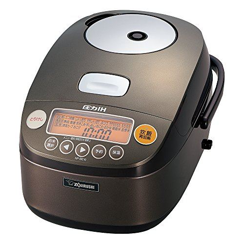 Zojirushi IH Pressure Rice cooker Iron coat Platinum Atsukama 5.5 Go Dark Brown NP-BE10-TD
