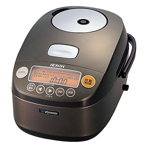 Zojirushi IH Pressure Rice cooker Iron coat Platinum Atsukama 5.5 Go Dark Brown NP-BE10-TD For Sale