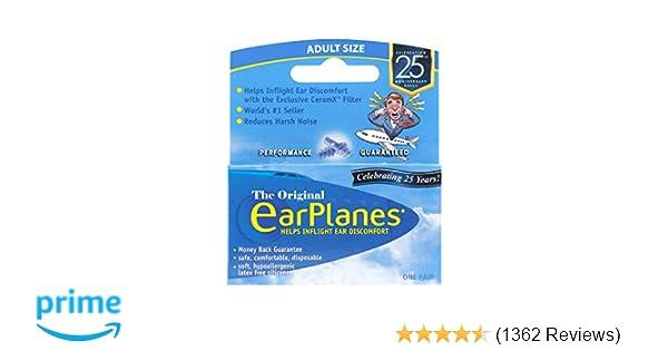 EarPlanes Ear Plugs 1 Pair ( Pack of 3)