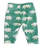 Children's 100% Organic Green Bear Print Pants