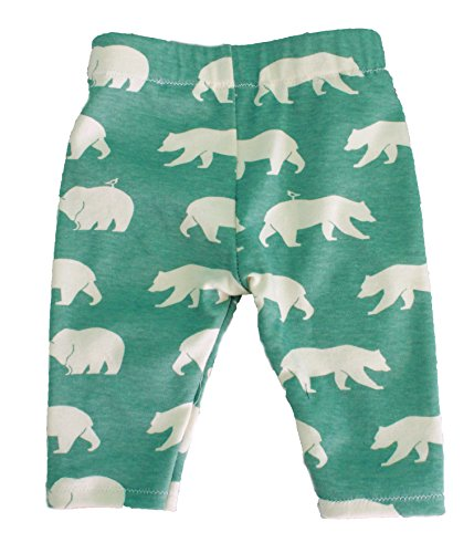 Children's 100% Organic Green Bear Print Pants by Soren + Luca