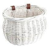 Sunlite Willow Bushel Strap-On Basket, 13 x 8 x 9', White