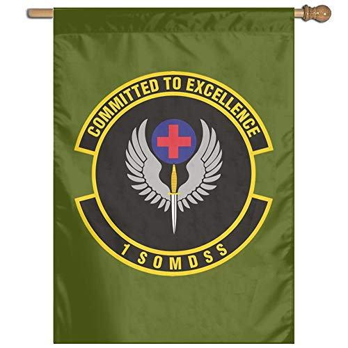 UDSNIS 1st Special Operations Medical Support Squadron Garden Flag 27 X 37 Inch Size Banner for Outdoor Decorative -