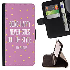 - Queen Pattern FOR Sony Xperia Z3 D6603 /La identificaci????n del cr????dito ranuras para tarjetas tir????n de la caja Cartera de cuero cubie - being happy motivational pink text