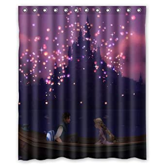 disney rapunzel tangled lanterns custom shower curtain 60u0026quot