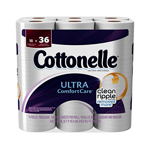 Cottonelle Toilet Paper Ultra Comfort Care Double Rolls - 18 CT Kleenex Ultra Toilet Roll
