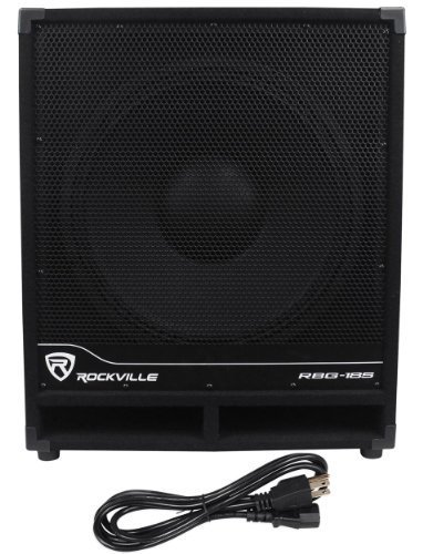 Rockville RBG18S 18'' 2000 Watt Active Powered PA Subwoofer w/DSP+Limiter Pro/DJ by Rockville