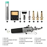 Butane Soldering Iron Torch, ONEVER Multipurpose Solder Station Kit with Adjustable Temperature 6pcs Soldering Iron Tips Gas Not Included (1)