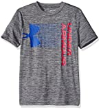 Under Armour Boys Crossfade Tee, Graphite (042)/Red, Youth X-Large