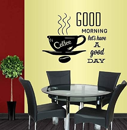 Amazon.com: Wall Vinyl Decal Home Decor Art Sticker Coffee Cup Good ...