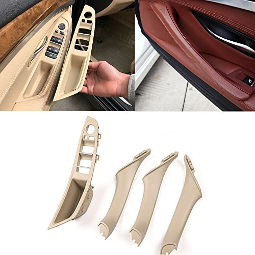 Window Switch Panel Door Handle Kit,For BMW 5 Series Inner Door Armrest Panel Handle Outer Trim Cover Upgraded Replacement (Fits:520 523 525 528 530 535 2010-2016)