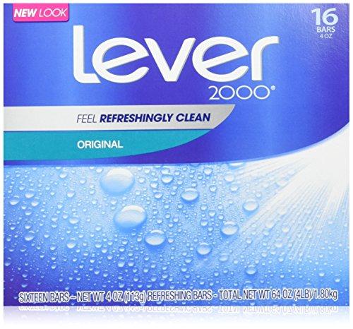 Lever 2000 Bar Soap Original 4 oz 16ct 2-Pack