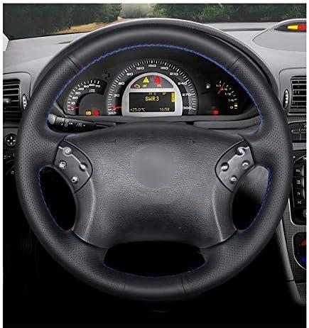 ZYTB F/ür handgen/ähte Schwarze pu Auto lenkradabdeckung f/ür Mercedes Benz w203 c-klasse 2001-2007