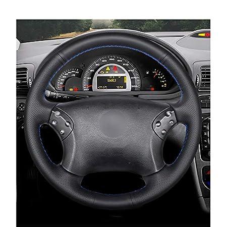 ZYTB Per Coperchio Volante Auto/Nero Cucito a Mano Pu/per Mercedes Benz W203 Classe C 2001-2007