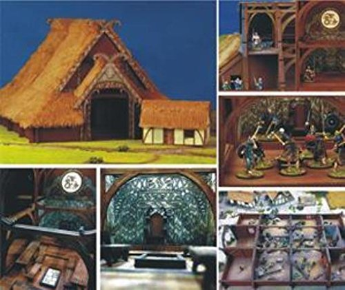Dark Age & Medieval - Terrain & Buildings 15mm Heorot - The Great SAGA Hall (Pre-Painted)