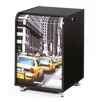 Caisson noir de Bureau Rideau Imprimé TAXI JAUNE NEW YORK: Amazon.fr ...
