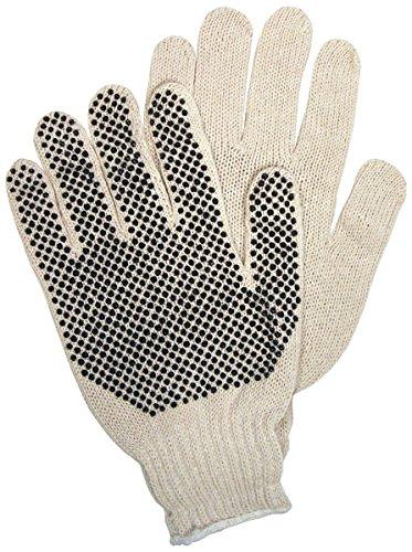 Mens Pvc Dot - Memphis 9658M Premium PVC Dot String Knit Gloves Mens Medium (12 Pair)