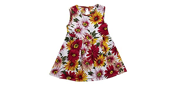Amazon.com: ShiTou Clothes- Toddler Kid Sleeveless Floral Printing Party Dress Outfits (Multicolor, 150): Clothing