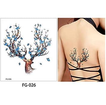 yyyDL Glitter Body Tattoo Etiqueta Engomada Impermeable de Dibujos ...