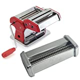 Norpro Red Pasta Machine with Linguini Attachment