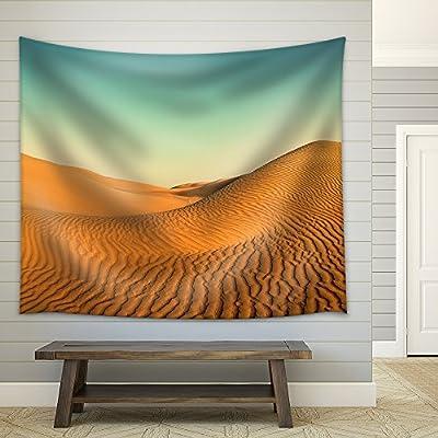 Beatiful Evening Landscape in Desert Vintage Retro Style...