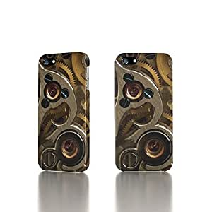 Apple iPhone 5 / 5S Case - The Best 3D Full Wrap iPhone Case - Golden Watch Gears