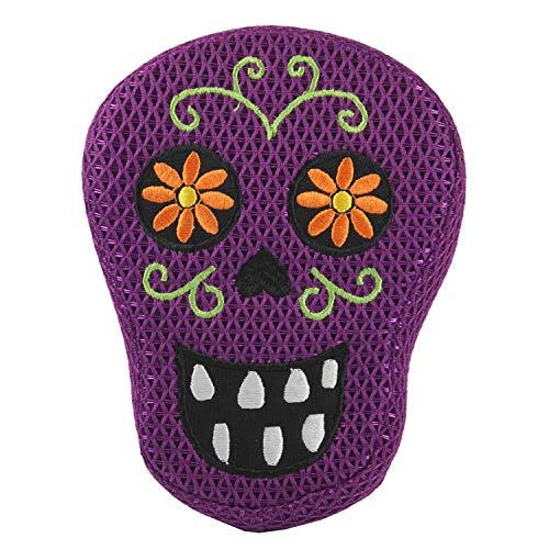 Connie N Randy Halloween Dog Toy Purple Sugar Skull -