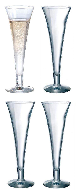 Durobor Set of 4, Royal Trumpet Champagne Glass, 160ml - G1915/16
