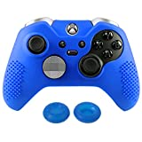 Cheap eXtremeRate® Soft Anti-slip Silicone Controller Cover Skins Thumb Grips Caps Protective Case for Microsoft Xbox One Elite Dark Blue