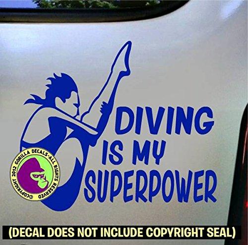 DIVING SUPERPOWER SPRINGBOARD DIVER Female Vinyl Decal Sticker E